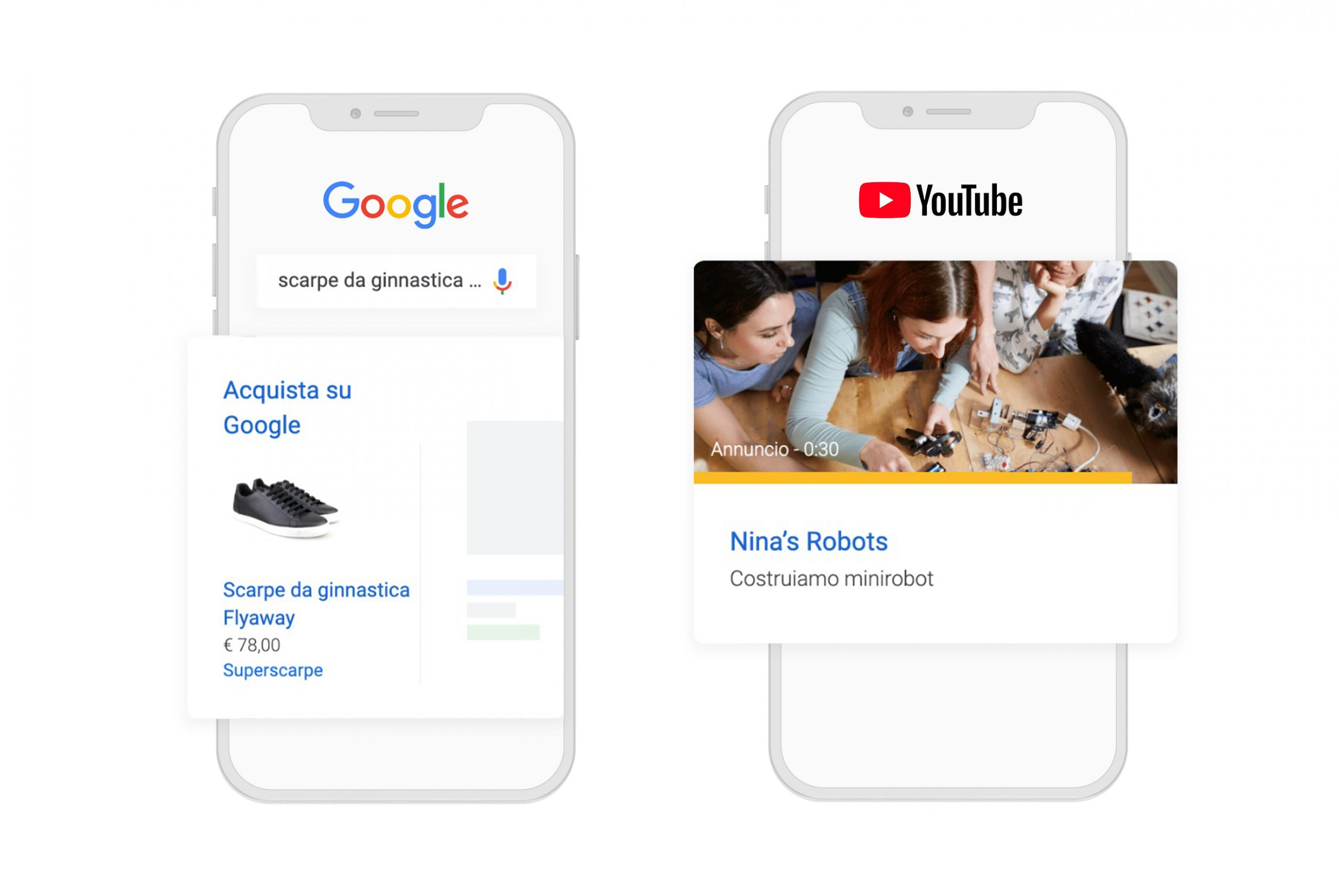 agenzia comunicazione google ads shopping video